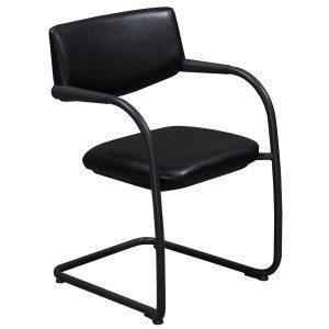 Vitra Visavis-Leather Chair-Black-01