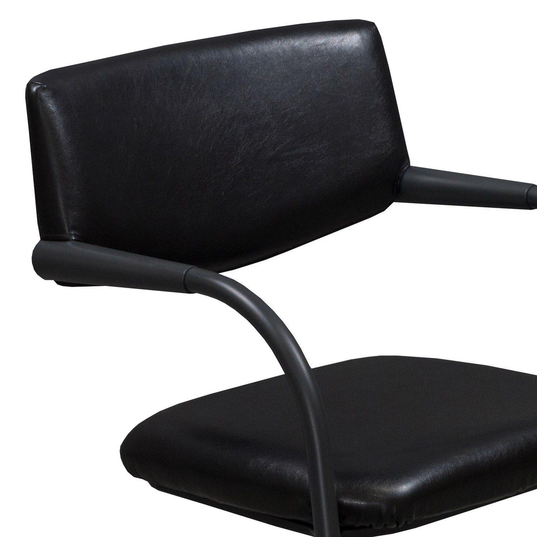 vitra visavis citterio used leather stack chair black national office interiors and liquidators. Black Bedroom Furniture Sets. Home Design Ideas