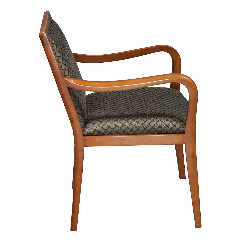 Bernhardt Used Wood Side Chair Tan Black Pattern
