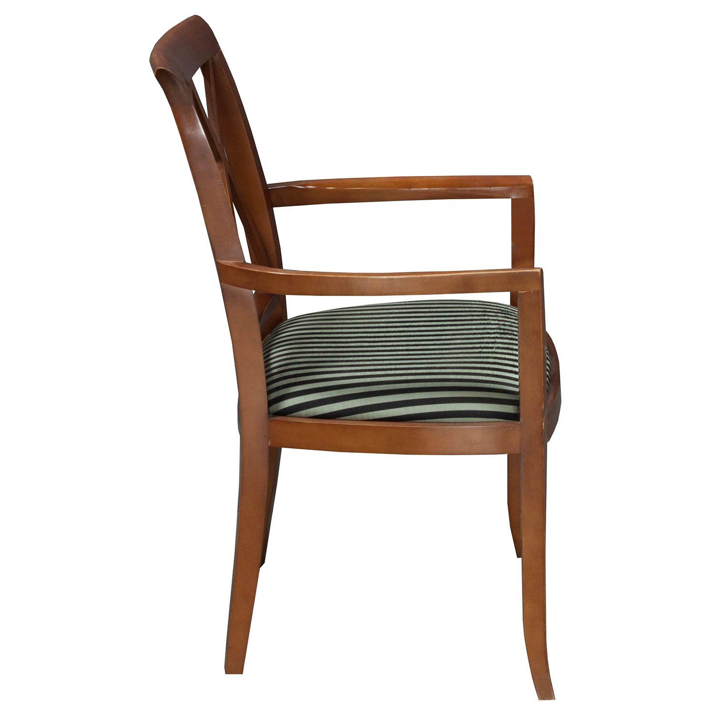 Bernhardt-Wood Side Chair-Black Stripe-02
