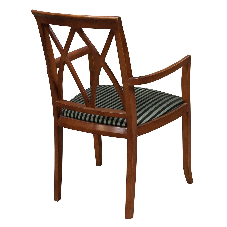 Bernhardt-Wood Side Chair-Black Stripe-03