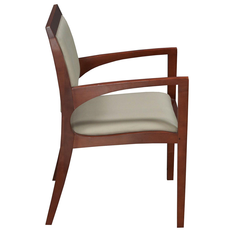 bernhardt used wood side chair light green tan pattern