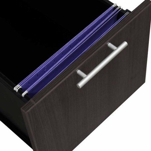 goSIT Everyday Gray L-Shape Right Return Reception Desk - Drawer