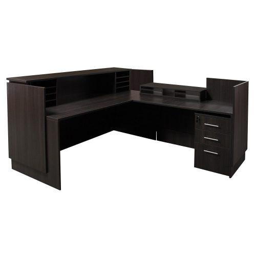 goSIT Everyday Gray L-Shape Right Return Reception Desk - Inside