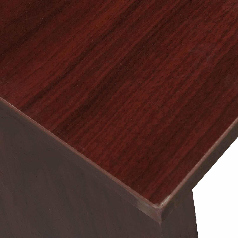 Double Pedestal Desk Thin Top Laminate Mahogany 03