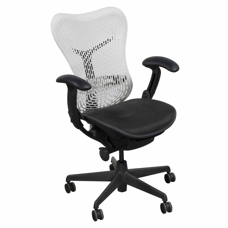 herman miller mirra used mesh seat task chair alpine. Black Bedroom Furniture Sets. Home Design Ideas