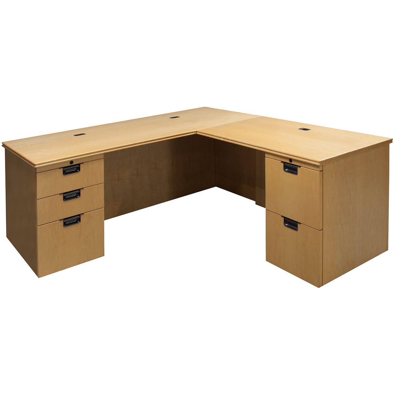 Knoll Reff Used Veneer Right Return L Shape Desk Maple