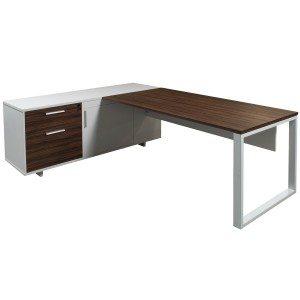Morgan-L Shape-Left Return Desk-Walnut-01