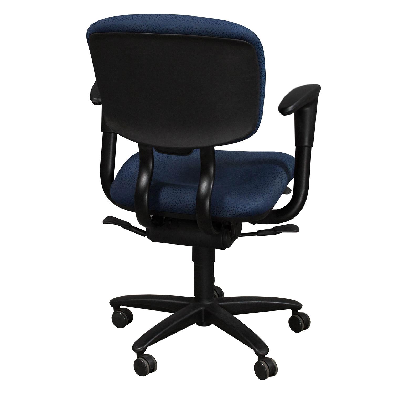 Haworth Improv Desk Used Task Chair Blue National Office