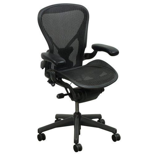 herman miller aeron posturefit used size b task chair carbon