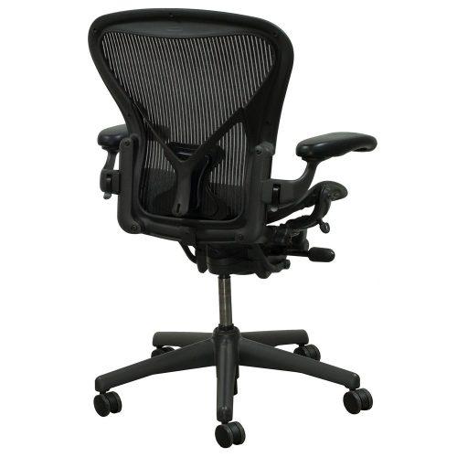 herman miller aeron posturefit used size c task chair carbon