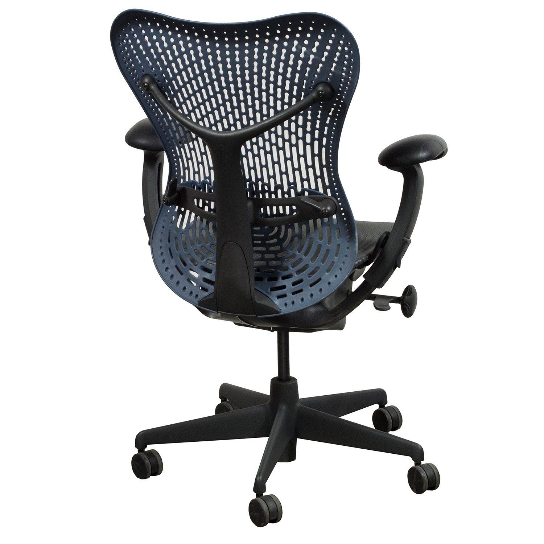 herman miller mirra used mesh seat blue fog national. Black Bedroom Furniture Sets. Home Design Ideas