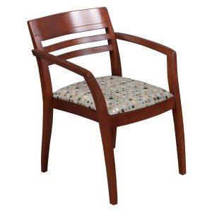 ICF-Wood SIde chair-Geo pattern-Cherry-07