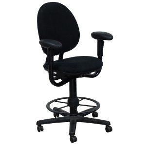 Steelcase-Criterion-Stool-No Seat Slider-High Back-Black-01
