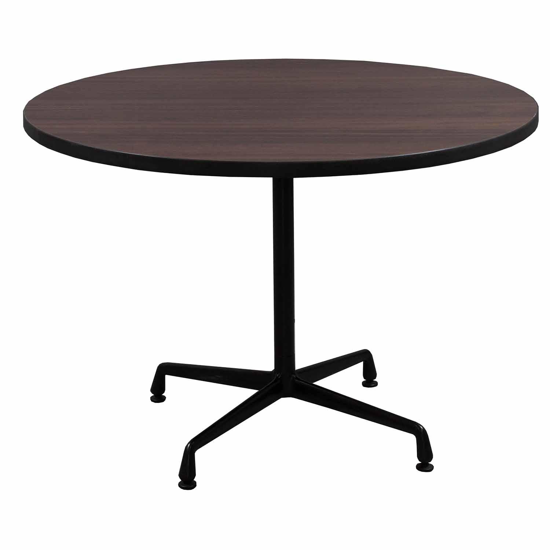 Herman miller eames used 42 inch veneer round table - Eames table herman miller ...