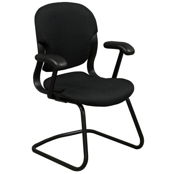 Herman Miller Equa Used Sled Base Side Chair Black National Office Interio