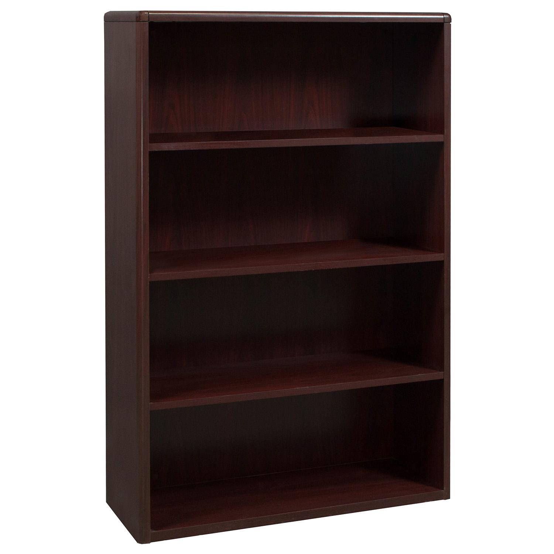 Laminate 4 Shelf Used Bookcase Mahogany National Office