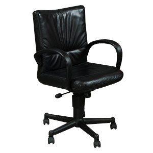 Steelcase-Brayton-leather Task chair-Black-01