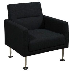 goSIT-Black Fabric-Sofa Chair-01