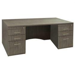 Hampton-36x72-Double Pedestal Desk-Flat front-01