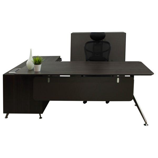 Morgan Manager Right Return Melamine L Shape Desk Gray