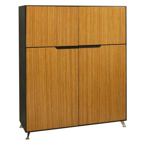 Morgan-Zebra and Black Veneer-Storage Cabinet-001
