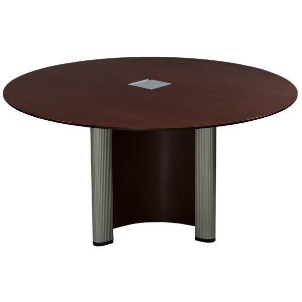 Nienk 228 Mper Vox Used 54 Inch Round Veneer Table Mahogany