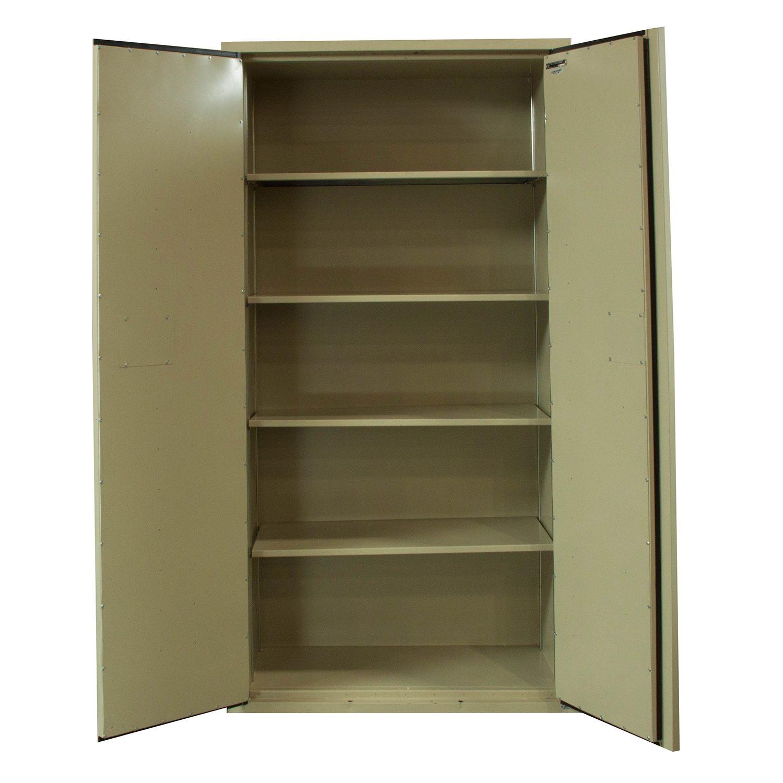 fireking used 72 inch fireproof storage cabinet putty