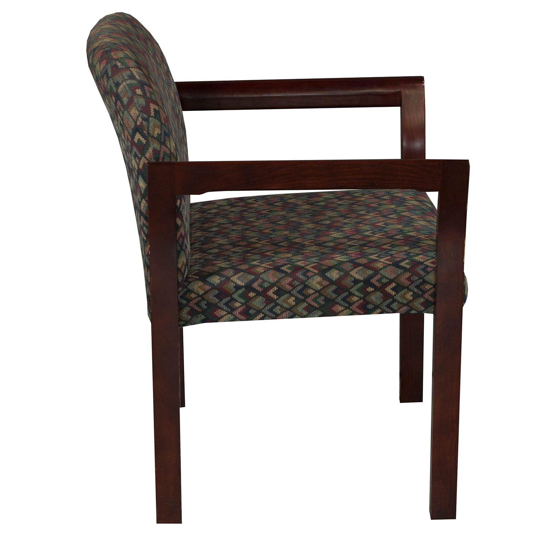 Gunlocke Used Mahogany Stack Chair Multi Colored
