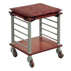 Haworth Crossings-Cart-Red cushion seat-01