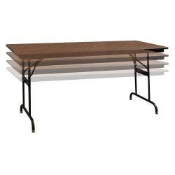 Laminate Folding Table-Adjustable Height-Oak-01