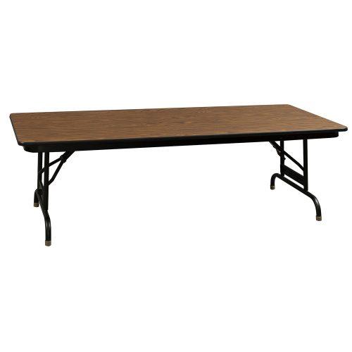Laminate Folding Table-Adjustable Height-Oak-03