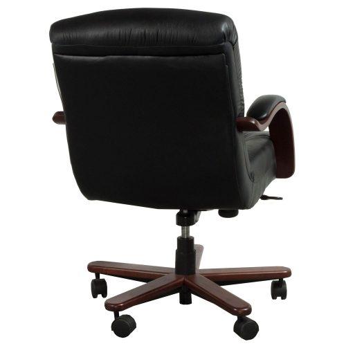 la z boy sintas used mid back wood leather conference chair black. Black Bedroom Furniture Sets. Home Design Ideas