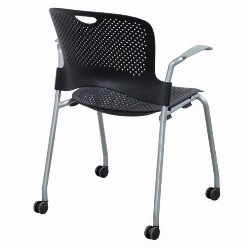 Herman Miller Caper Used Mobile Stack Chair Black