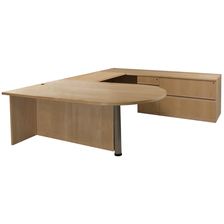 Very Impressive portraiture of Desks / Used Desks / Bullet Top Used Wood Veneer Right Return U Shape  with #866945 color and 1500x1500 pixels