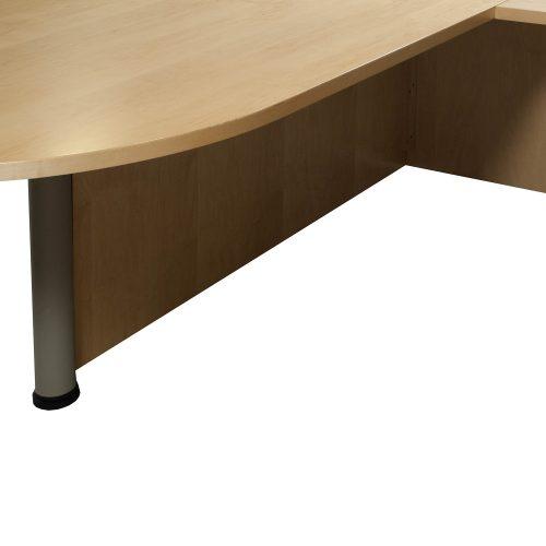 Bullet Top Used Wood Veneer Right Return U Shape Desk Maple
