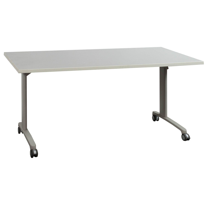 Laminate 30 215 60 Used Mobile Folding Table Light Gray