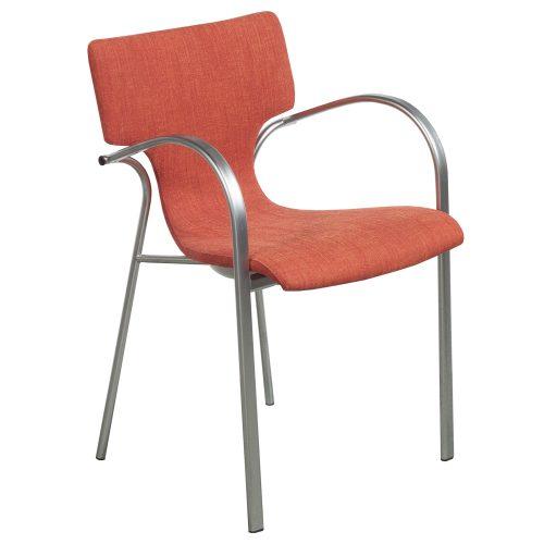 Bernhardt Strada-Orange-Stack Chair-01