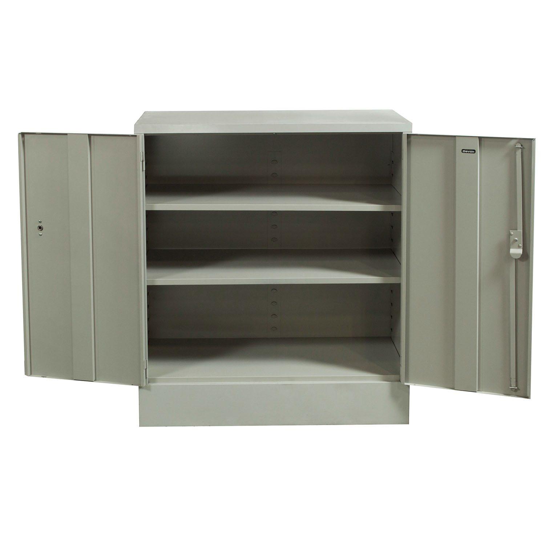 Devon Used 42 Inch Storage Cabinet Light Gray National