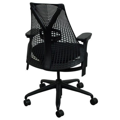 herman miller sayl used task chair black. Black Bedroom Furniture Sets. Home Design Ideas