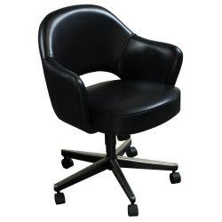 Knoll Saarinen-Black Leather-01