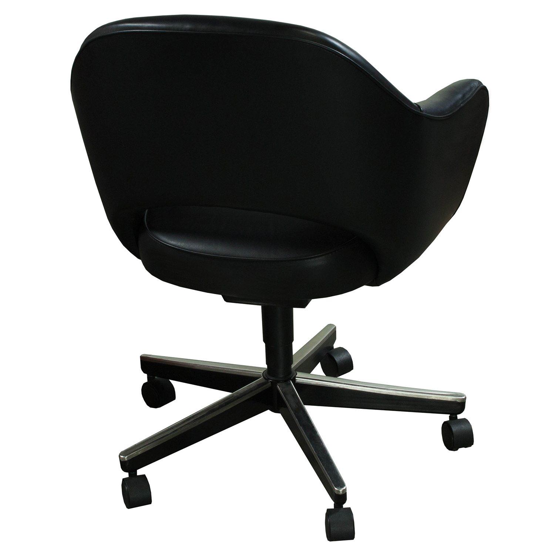 knoll saarinen used leather executive chair black national office interiors and liquidators. Black Bedroom Furniture Sets. Home Design Ideas