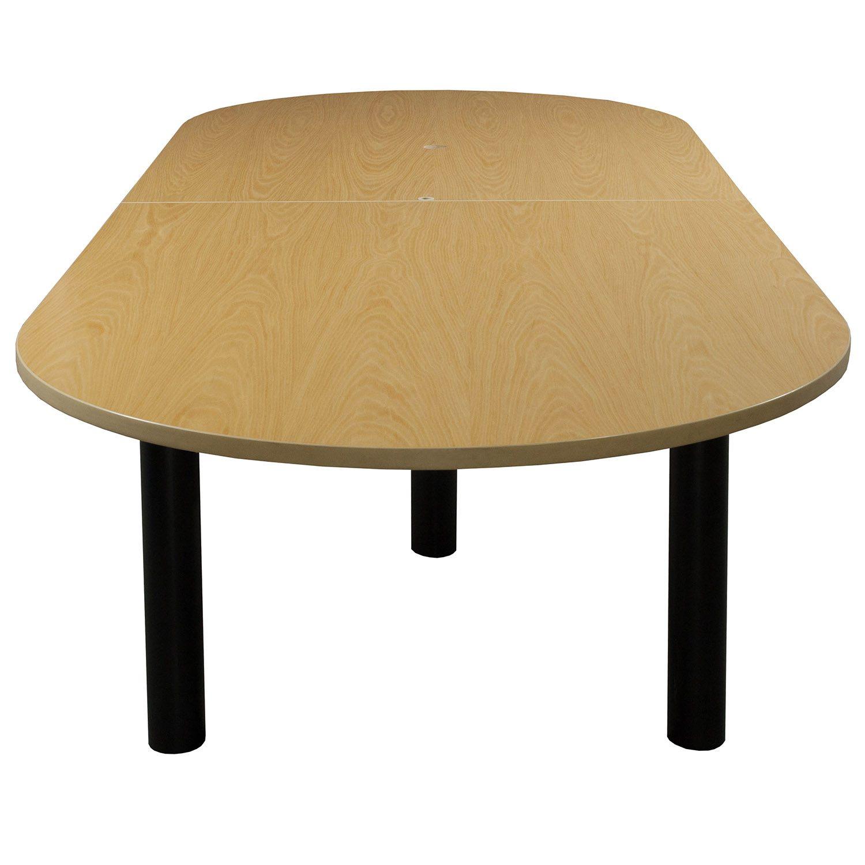 teknion used 10ft wood veneer conference table maple