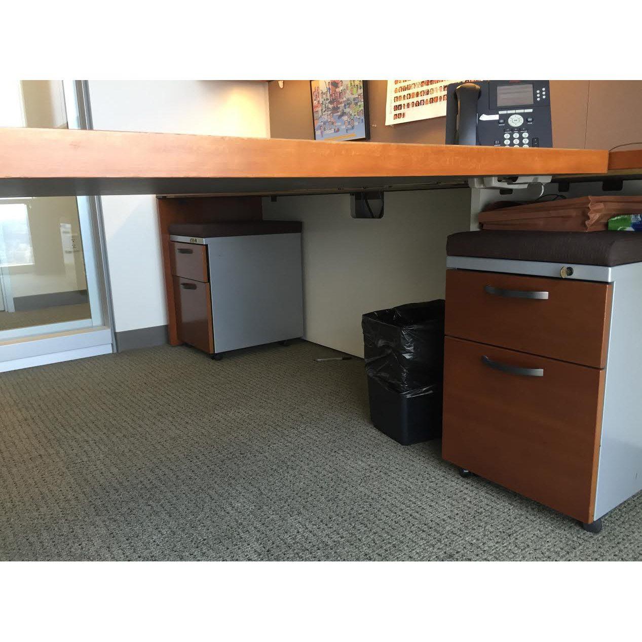 Herman Miller Geiger Used L Shape Veneer Partner Desk