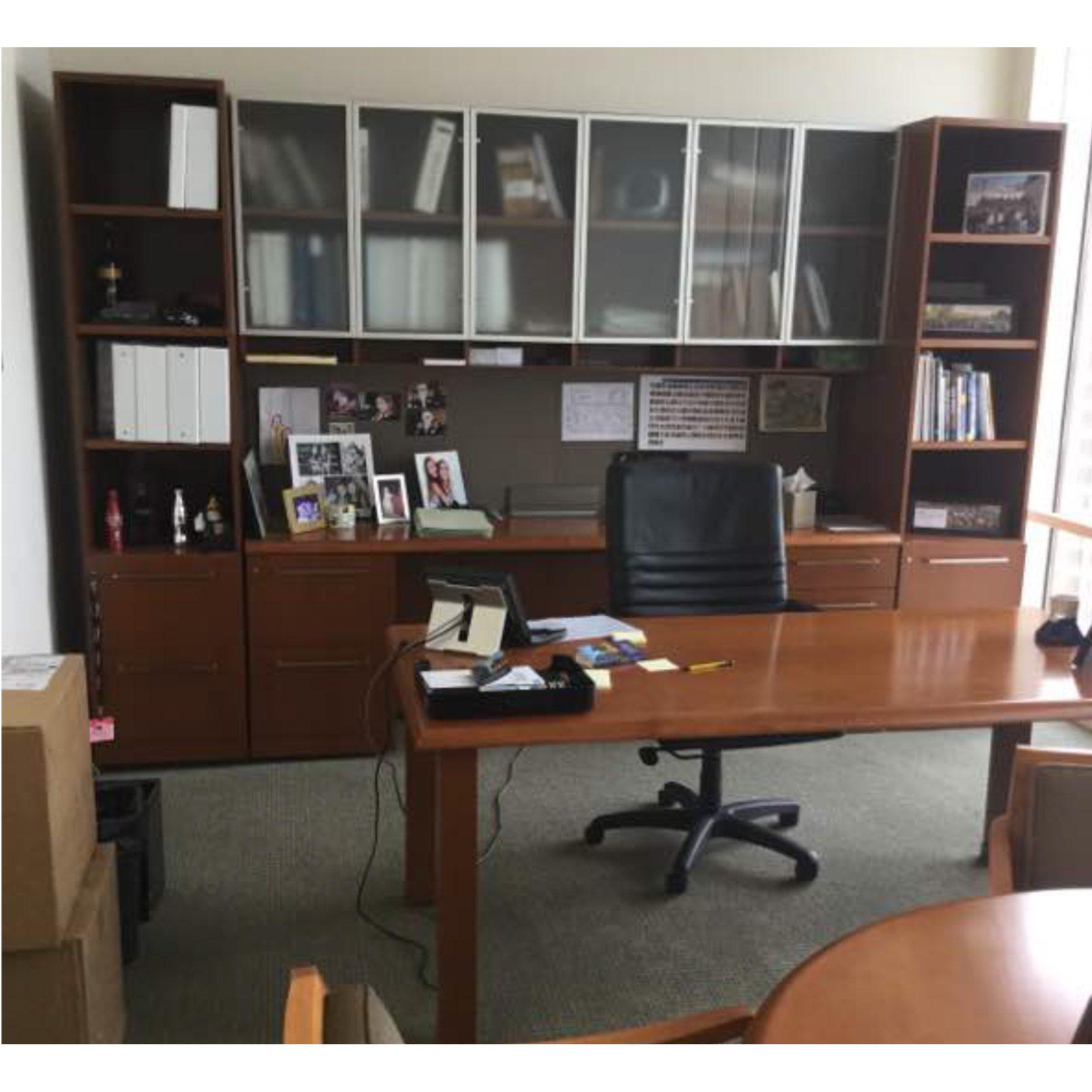 Herman Miller Geiger Used Veneer Executive Desk Set