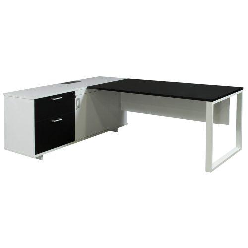 Morgan-Executive-Front Shelf-Black and White-Left-01