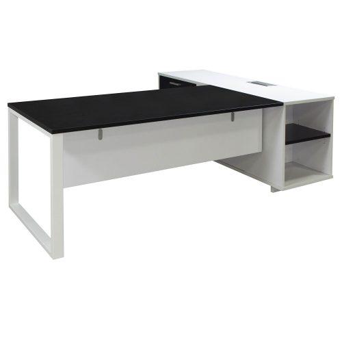 Morgan-Executive-Front Shelf-Black and White-Left-02