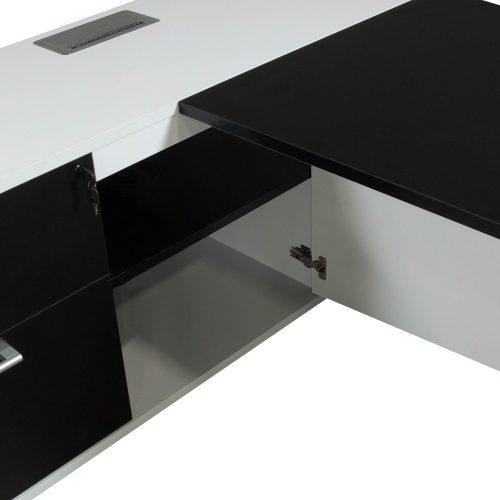Morgan-Executive-Front Shelf-Black and White-Left-03