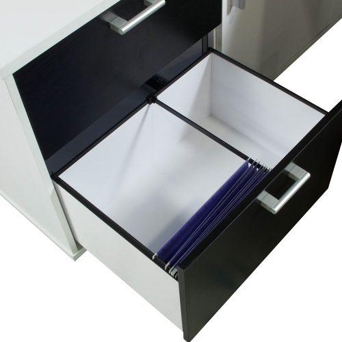 Morgan-Executive-Front Shelf-Black and White-Left-04