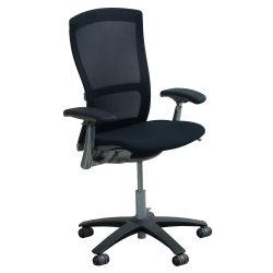 Knoll-Life-Black Fabric Seat-Adjustable Arms-01